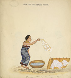 Manipur women washing clothes.
